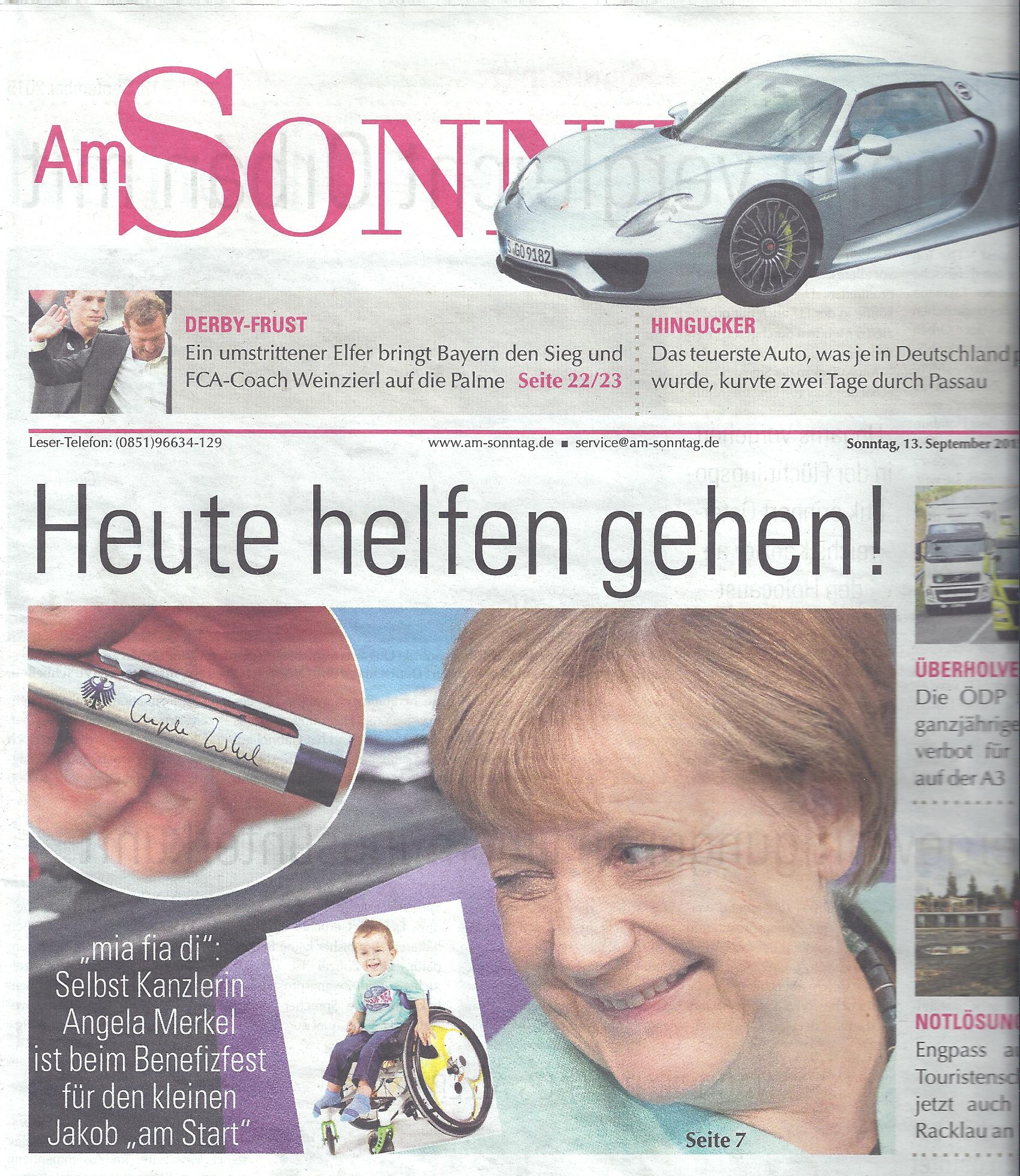 Am Sonntag Titelblatt - Heute helfen gehen
