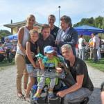 Jakob und seine Familie mit Julian, Andy und Oli