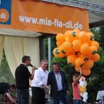 Schirmherr Landrat Franz Meyer mit Andy Borg und Oliver Robl