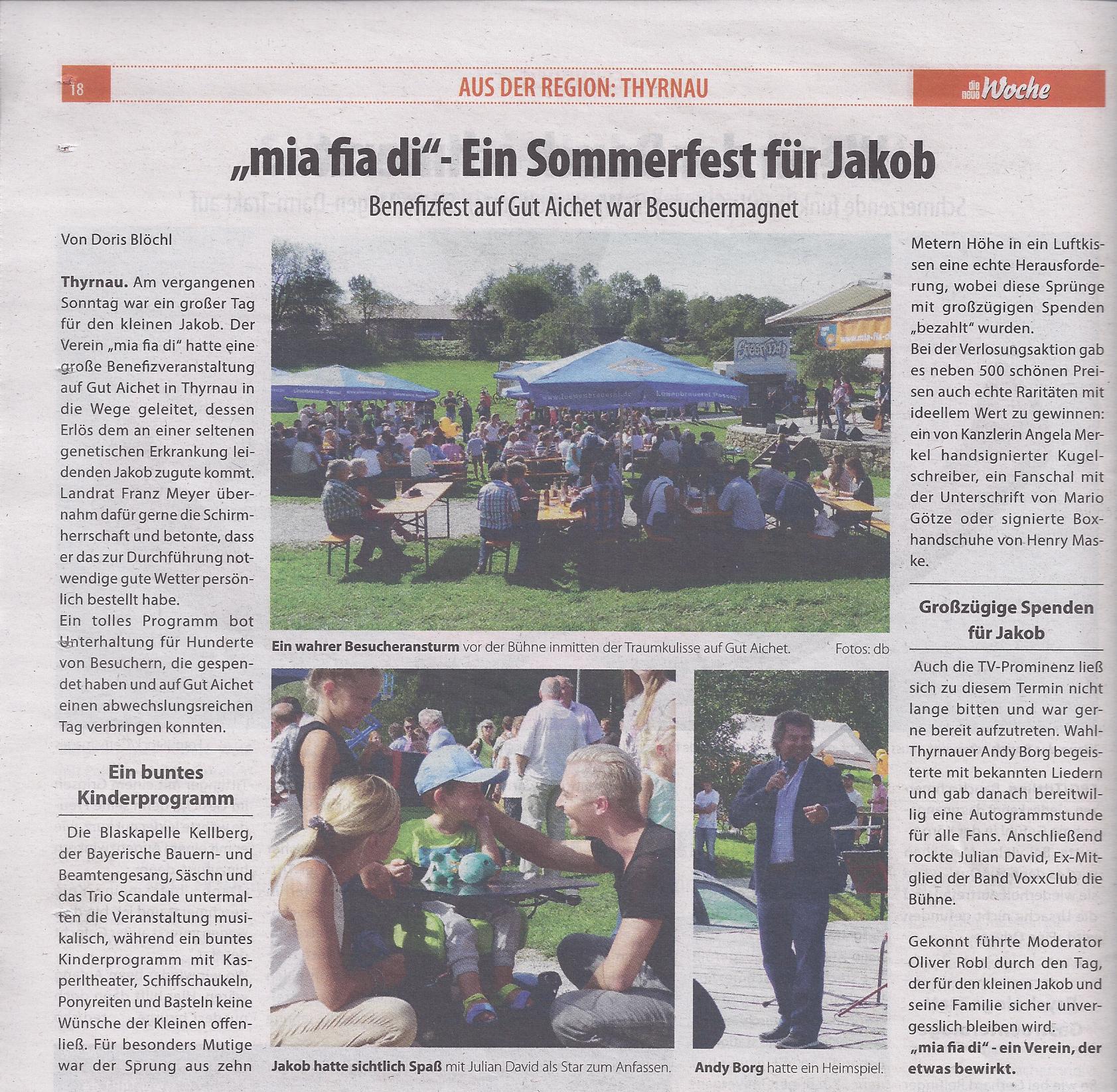 Die neue Woche - mia fia di - Ein Sommerfest fuer Jakob